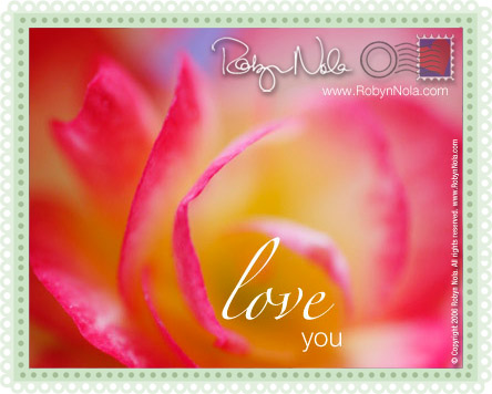 Love You Postcard By Robyn Nola.
