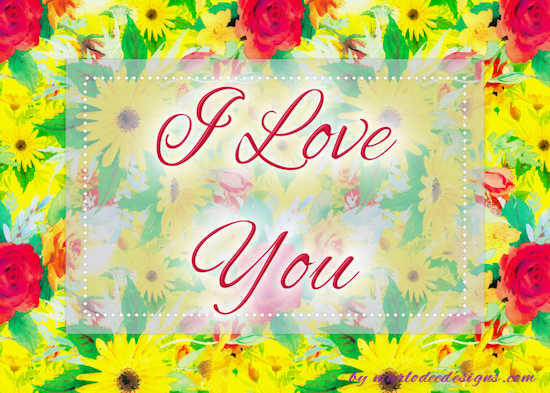 Daisies & Roses I Love You Card