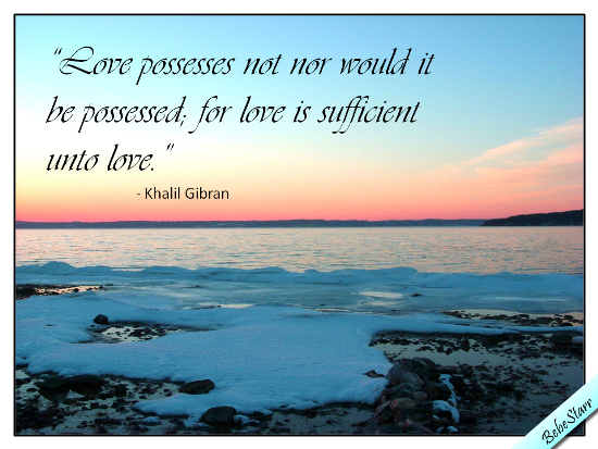 Love Is Sufficient.