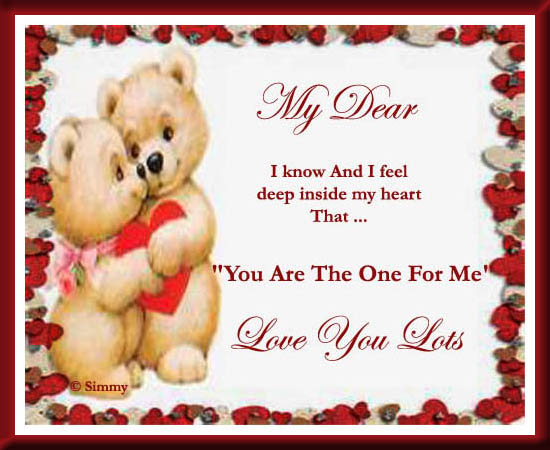 you are the one i love
