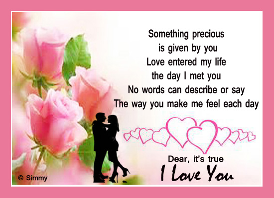 Love entered my life free i love you ecards greeting cards 123 love entered my life m4hsunfo