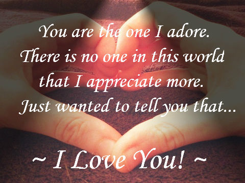 For the one i adore free i love you ecards greeting cards 123 for the one i adore publicscrutiny Image collections