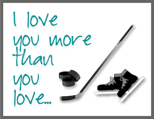 In Love With Hockey Player.