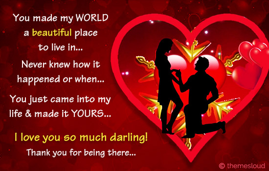 You Made My World A Beautiful Place..