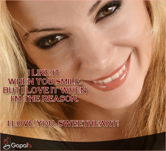 I Like It When You Smile...