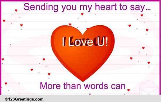 A Special Love Letter Free I Love You ECards Greeting