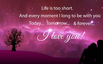 Life Is Short I Love You Forever Free I Love You Ecards
