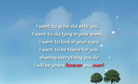 i want to be yours forever