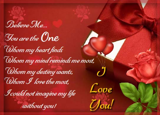 you are the one i love the most  free i love you ecards