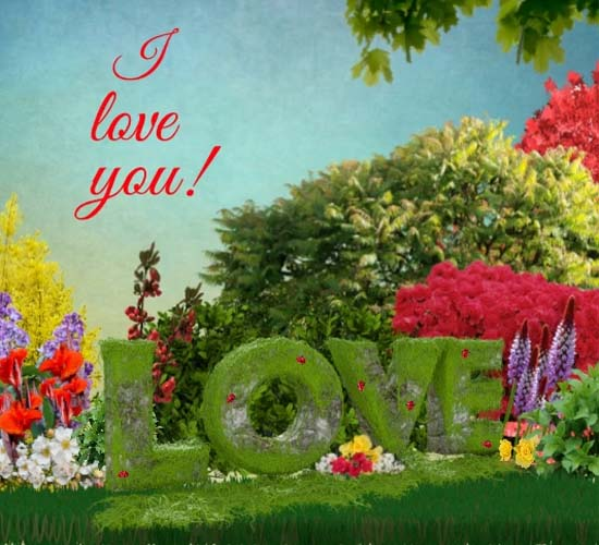 love garden free i love you ecards greeting cards
