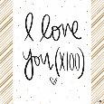 I Love You 100 Times!
