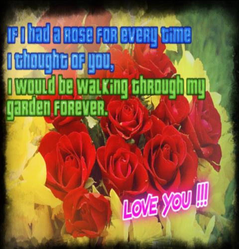 Garden Of Love For You.