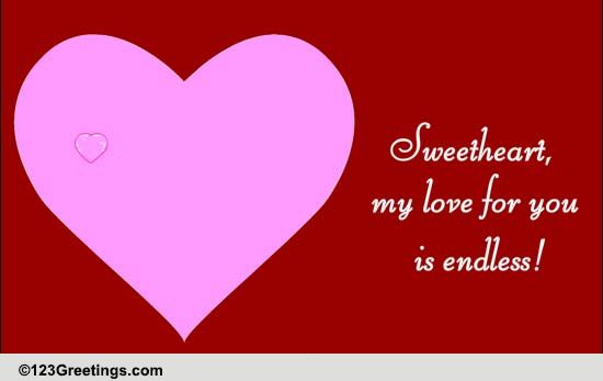 my love for you is endless free poems ecards greeting