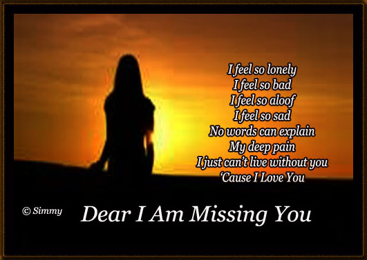 Dear i am missing you free missing him ecards greeting cards 123 dear i am missing you m4hsunfo