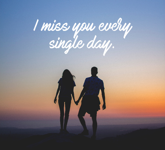 Missing My Darling.