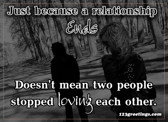 Just Because A Relationship...