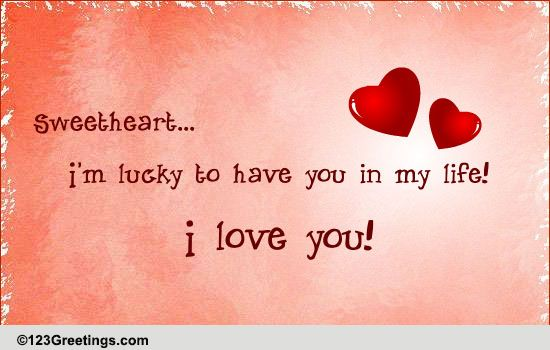 Free For Your Sweetheart ECards