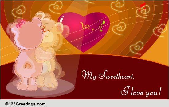 hug u kiss u love u free for your sweetheart ecards, Greeting card
