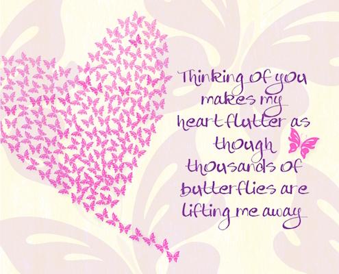 Heart flutter love