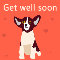 Home : Pets : Get Well - Get Well Soon Pup Greeting Cards.