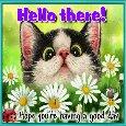 A Very Cute Hi-Hello Card.