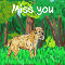 Home : Pets : Miss You - Miss You Golden Retriever Greeting Cards...