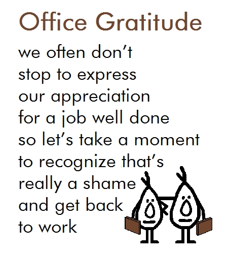 Office Gratitude - A Thank You Poem. Free At Work Ecards, Greeting
