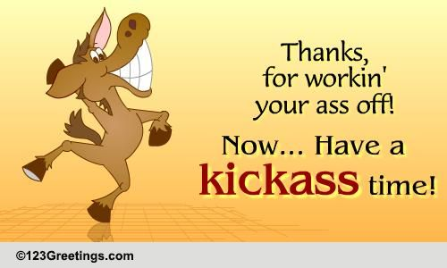 Thanks For Working Hard. Free At Work eCards, Greeting ... | 500 x 300 jpeg 22kB