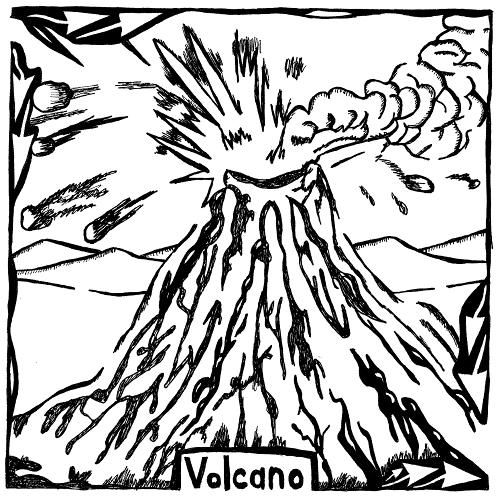 Erupting Volcano Maze.