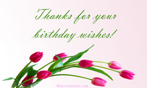 Birthday Wishes Free Birthday eCards Greeting Cards – Thanks for the Birthday Greeting