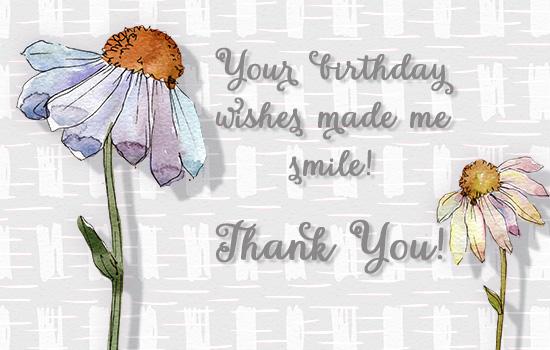 thank you birthday wish made me smile free birthday thank you