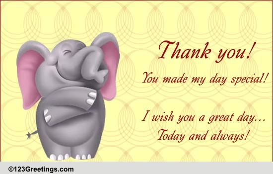 Thank You Cards Free Thank You eCards Greeting Cards – Thank You Note to Friend