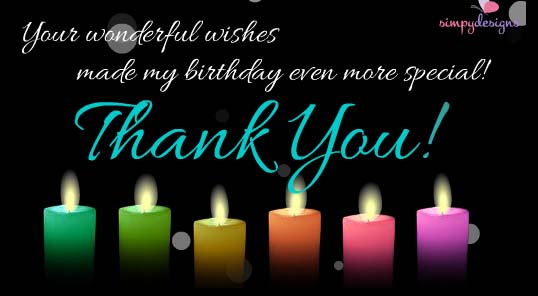 Thank You For Your Birthday Wishes Free Birthday eCards Greeting – Thanks for the Birthday Greeting