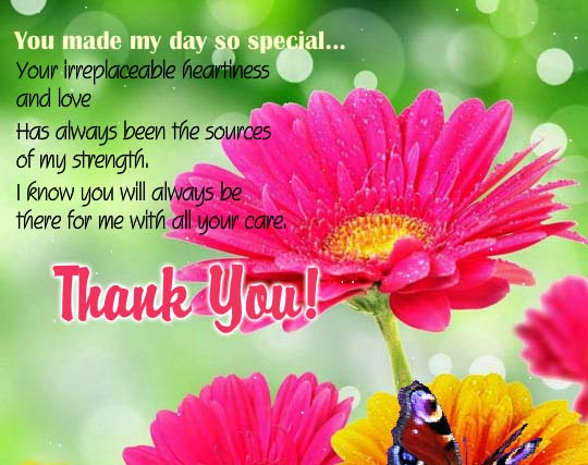 Thank You For Making My Birthday Special Quotes: Thanks For Making My Day Special. Free Birthday Thank You