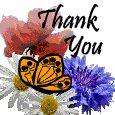 Thank You Butterflies.-Birthday Thank You