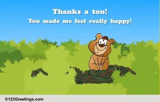 thanks a ton  free congratulations ecards  greeting cards
