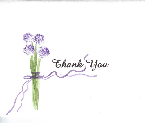Thank You Allium Flower.