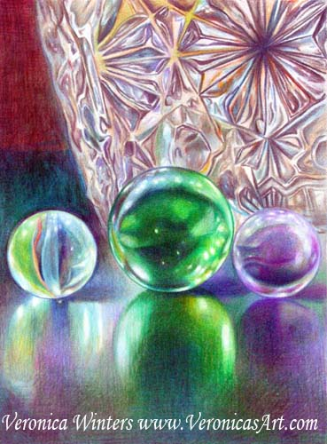 Marbles And Crystal Vase Thank You.