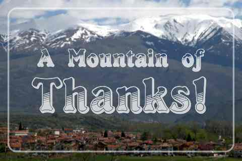 Mountain Of Thanks.