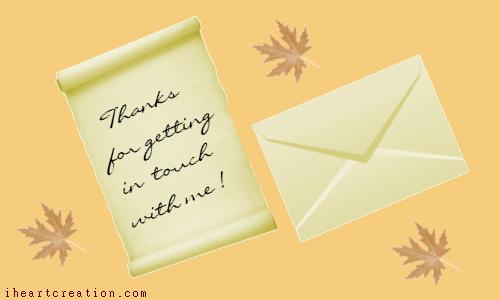 Letter Of Thanks.