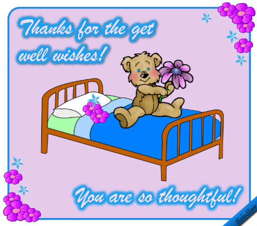 thanks for the get well wishes free for everyone ecards greeting