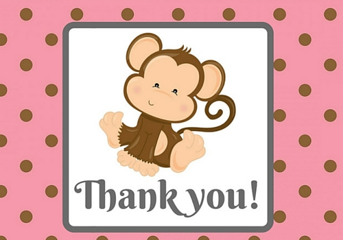 Monkey thank you free for everyone ecards greeting cards 123 customize and send this ecard monkey thank you m4hsunfo