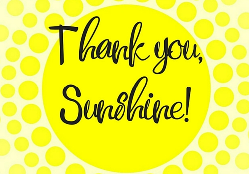 Sunshine Thank You. Free For Everyone eCards, Greeting Cards | 123 Greetings