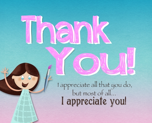 I Appreciate You And All You Do.