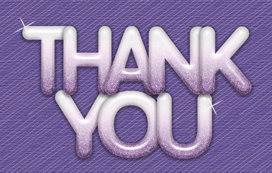 Thank You Fun Purple Letters Free For Everyone ECards