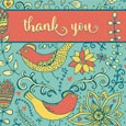 Vibrant Thank You Note