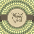 Pastel Green Thank You Note.