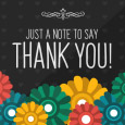 Home : Thank You : For Everyone - Thank You Note With Flowers.