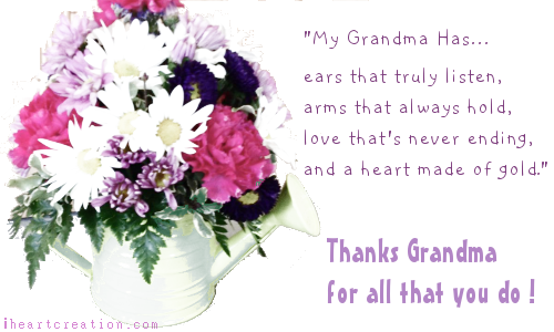 Thanks Grandma Free Family eCards Greeting Cards – Thanks for Birthday Card