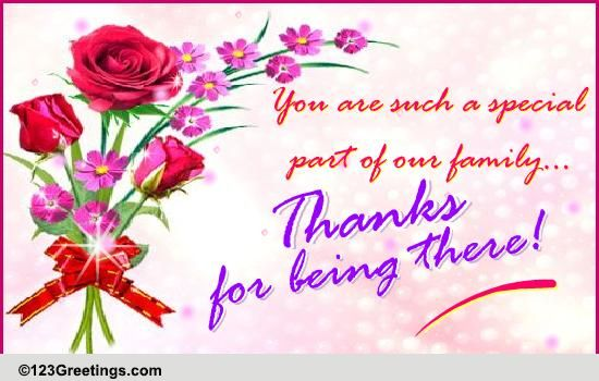 thanks for being there  free family ecards  greeting cards